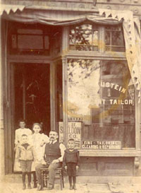 Dr. Blaustein's great-grandfather's tailor shop